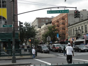 The corner of where Woody lives in Harlem.. brought my black glove and made a fist.