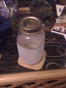 Moonshine in a Mason Jar